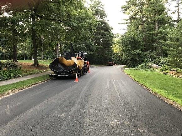 sylvan lane's new pavement