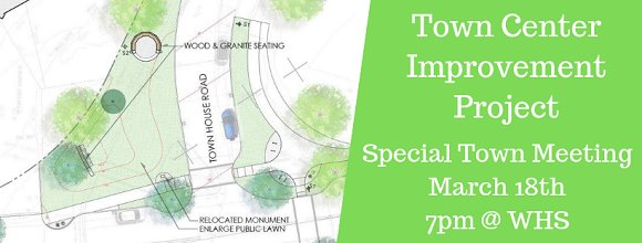 town center improvement project and special town meeting