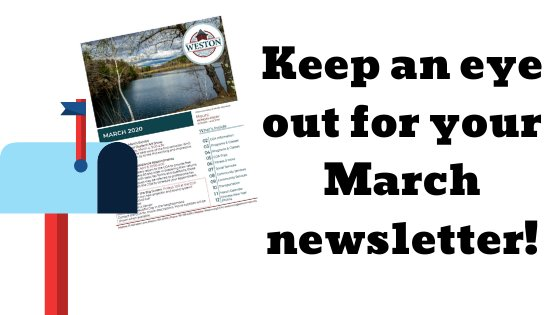 March newsletter in the mail