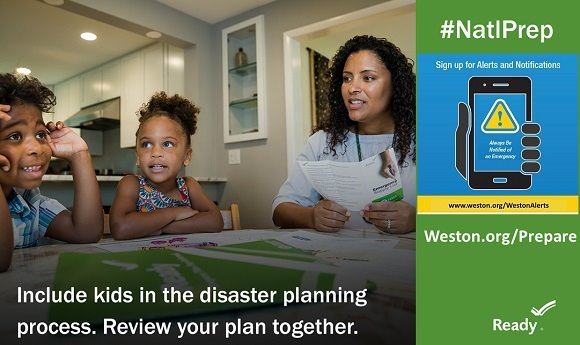national preparedness month include kids in planning