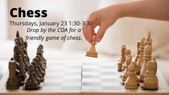 Chess january 23 1:30-3:30