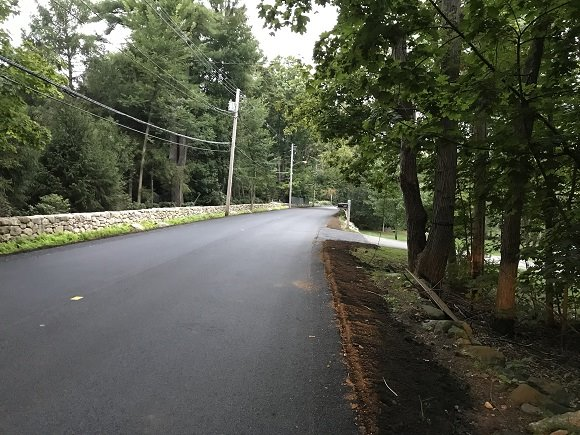 new pavement on newton street