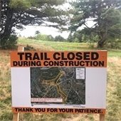 trail closed during construction sign
