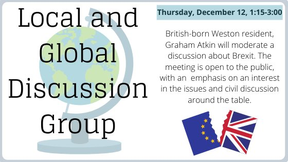 Local and global discussion group thursday december 12 1:15-3:00