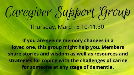 caregiver support group march 5