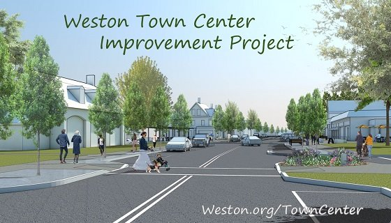 town center improvement project view