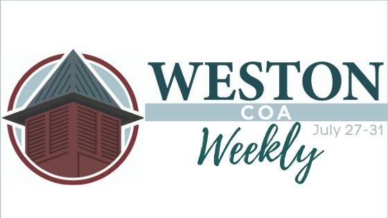 Weston COA Weekly July 27-31