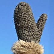 winter mitten hand