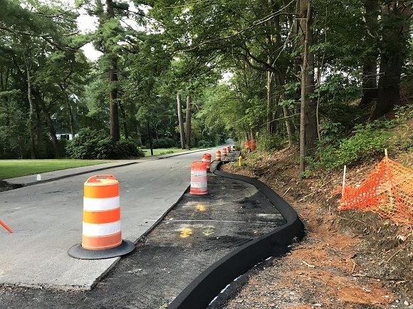 parking construction for rail trail