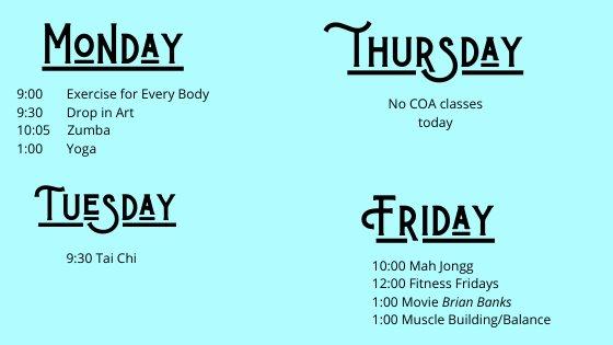 COA schedule