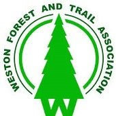 logo for weston forest and trail association