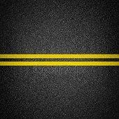 yellow pavement markings