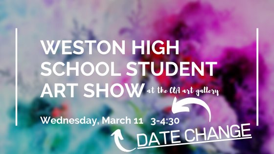 art show date change to march 11