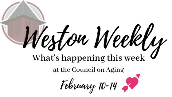What's happening at the council on aging February 10-14