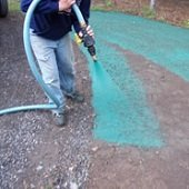 hydroseeding application
