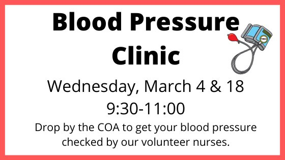 blood pressure clinic march 4 9:30