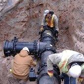 underground installation of a water main