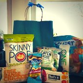 snacks with gift bag