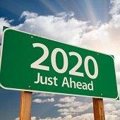 2020 just ahead road sign
