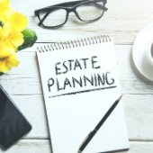 estate planning flowers and glasses