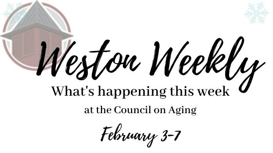 What's happening this week at the COA February 3-7