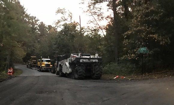 roadway reconstruction trucks