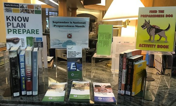 library display of safety books