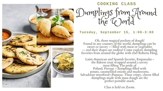 dumplings from around the world cooking class