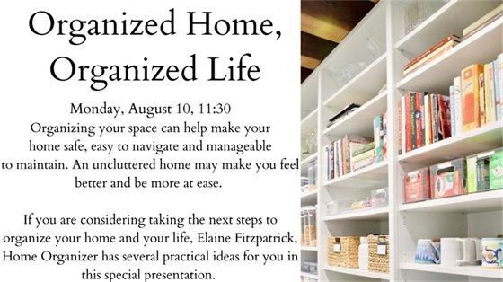 organized home organized life