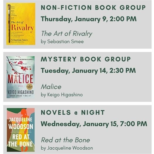 January Book Groups