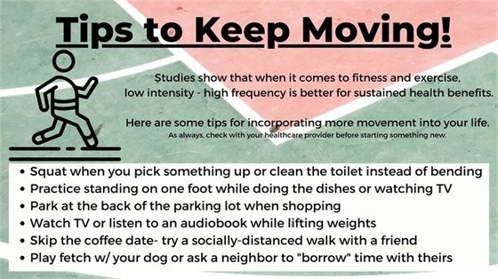 tips to keep moving