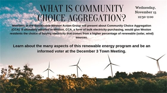 What is community choice aggregation? Wednesday, November 13 12:30-2:000