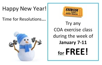 Free fitness classes at the COA