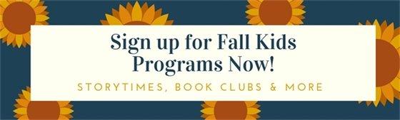 Fall Programs for Kids