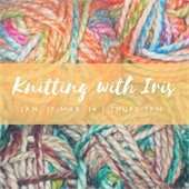 Knitting with Iris