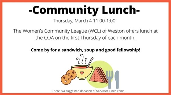 community lunch march 4