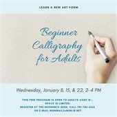 Calligraphy for adults