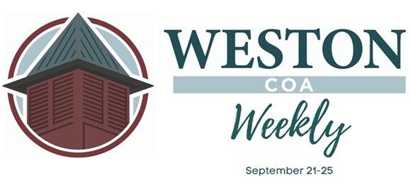 weston coa weekly september 21-25