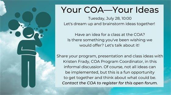your coa your ideas