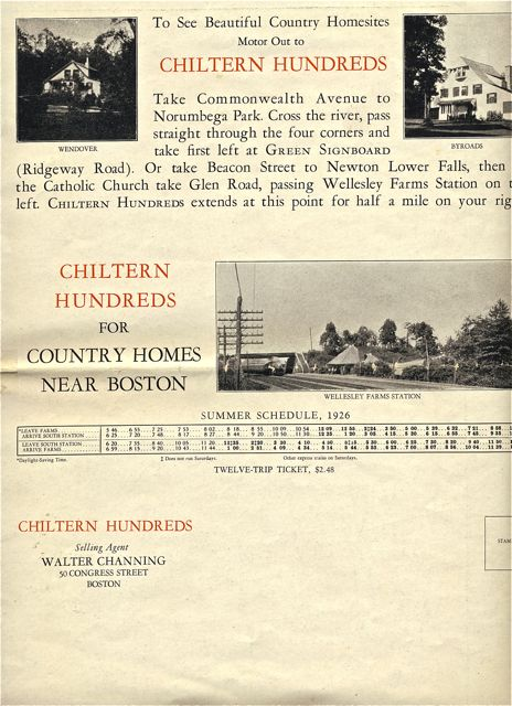 A real estate brochure featuring Chiltern Hundreds development