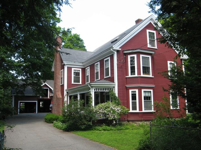 Red multi-story house at 59 Wellesley Street