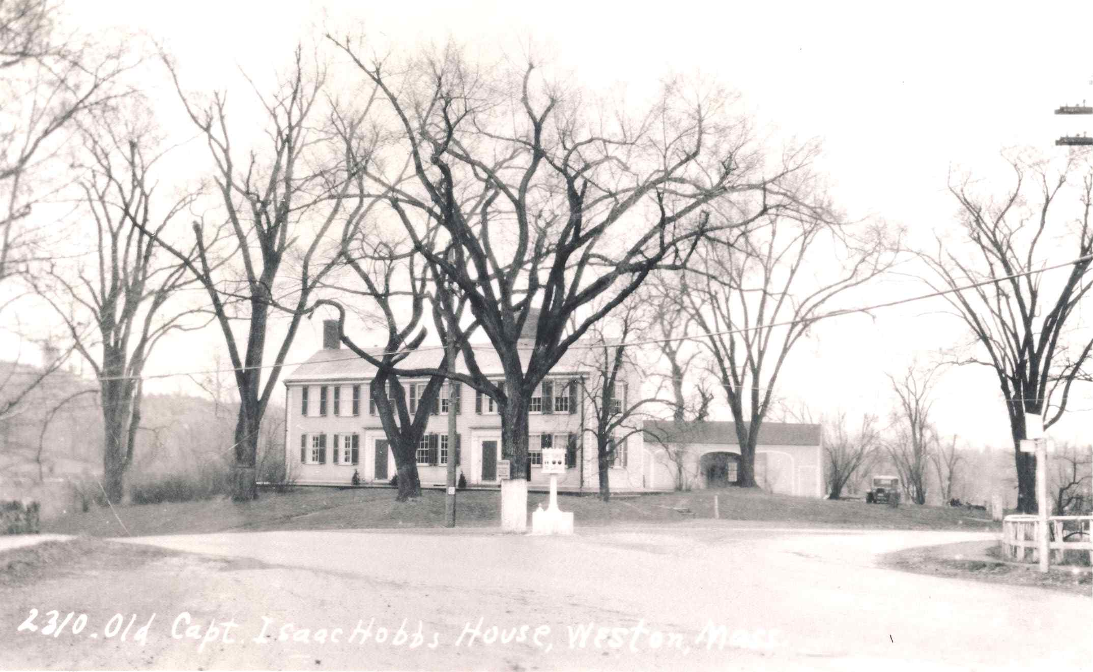 Photograph of the Hobbs-Hagar House at 88 North Avenue and elms