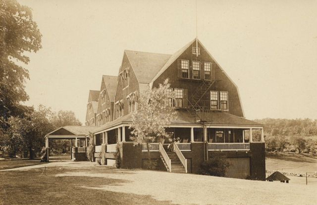 Drabbington Lodge, a popular summer resort established in the 1890s by the Thurston family