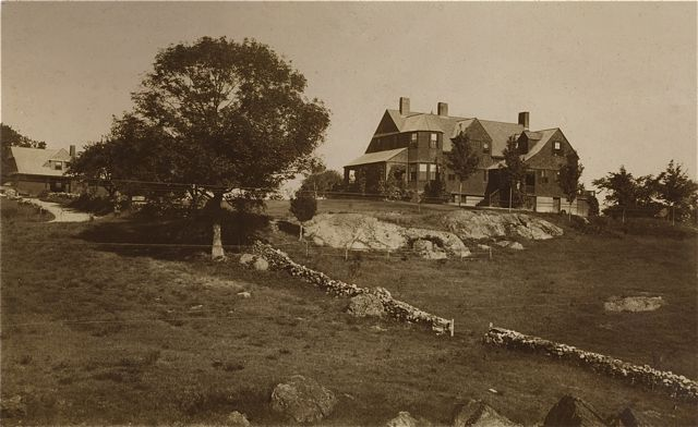 Francis Henry Hastings house (190 North Ave) from the rear, in c. mid-1890s photograph