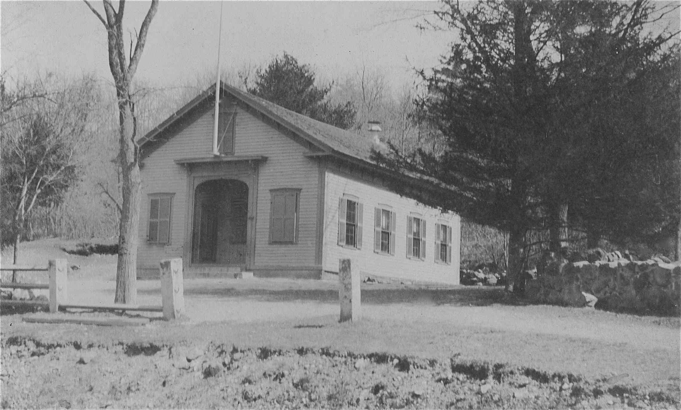 District School #4 on North Avenue was the last of Weston's 6 district schools