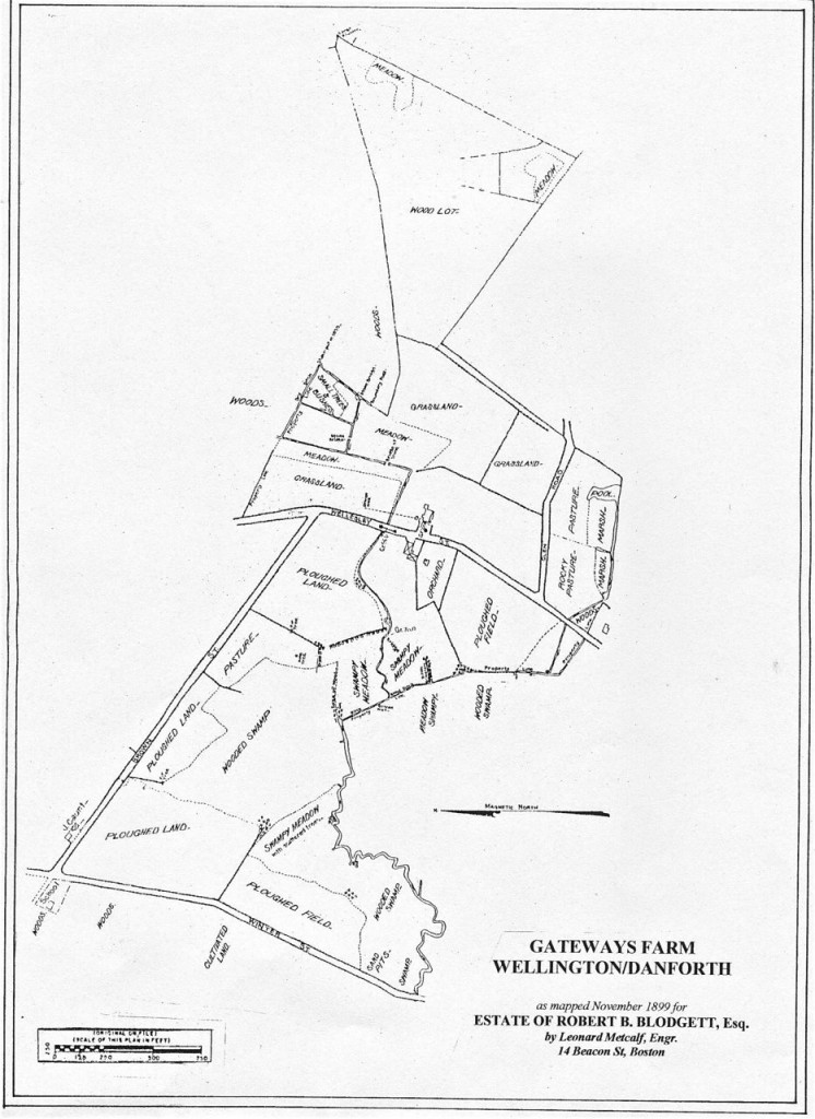 1899 plan of Wellington farm showing land use
