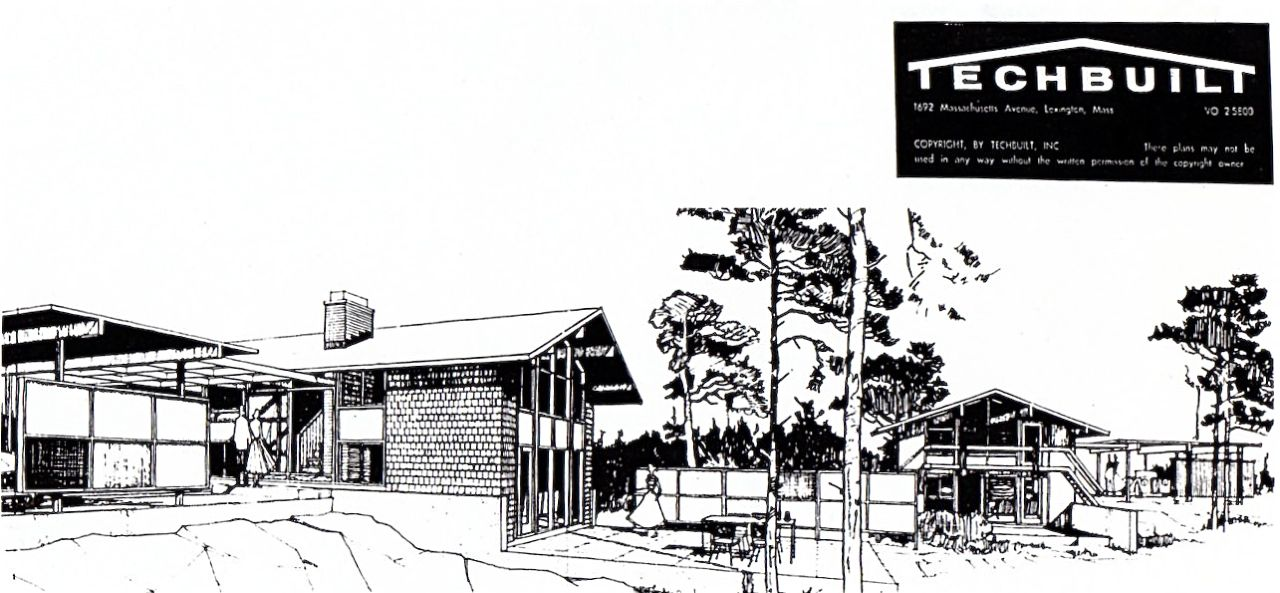 The Techbuilt house was developed by architect Carl Koch in the early 1950s.
