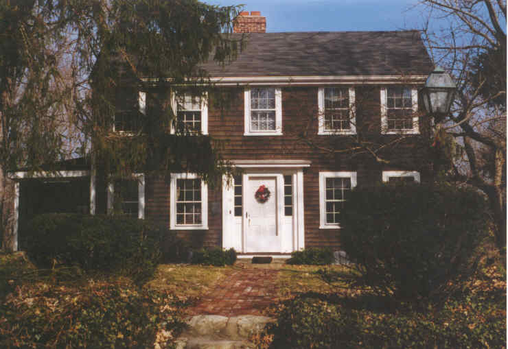 A Colonial style house on Crescent Street