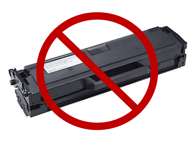 toner cartridge with x through it