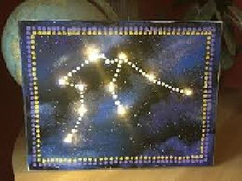 Glowing constellations painting